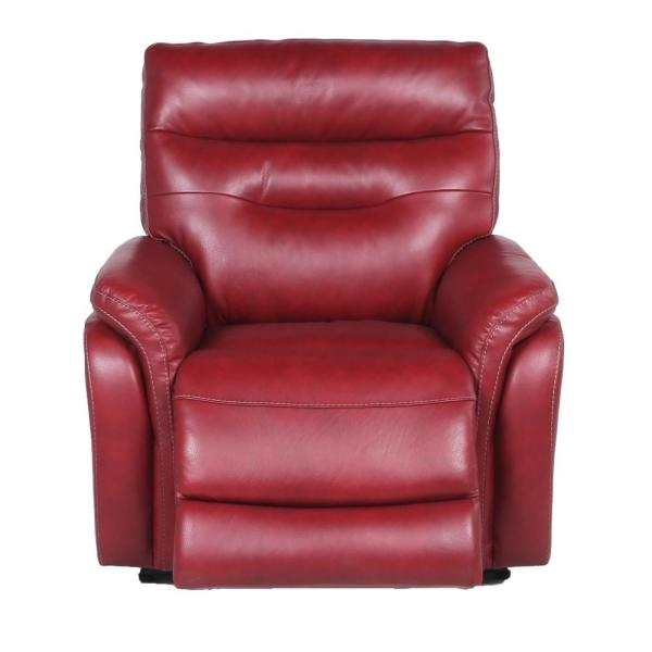 Fortuna 1-Seat Dark Red Leather Power Recliner Chair