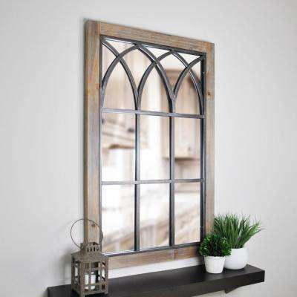 Grandview Arched Window Decorative Mirror