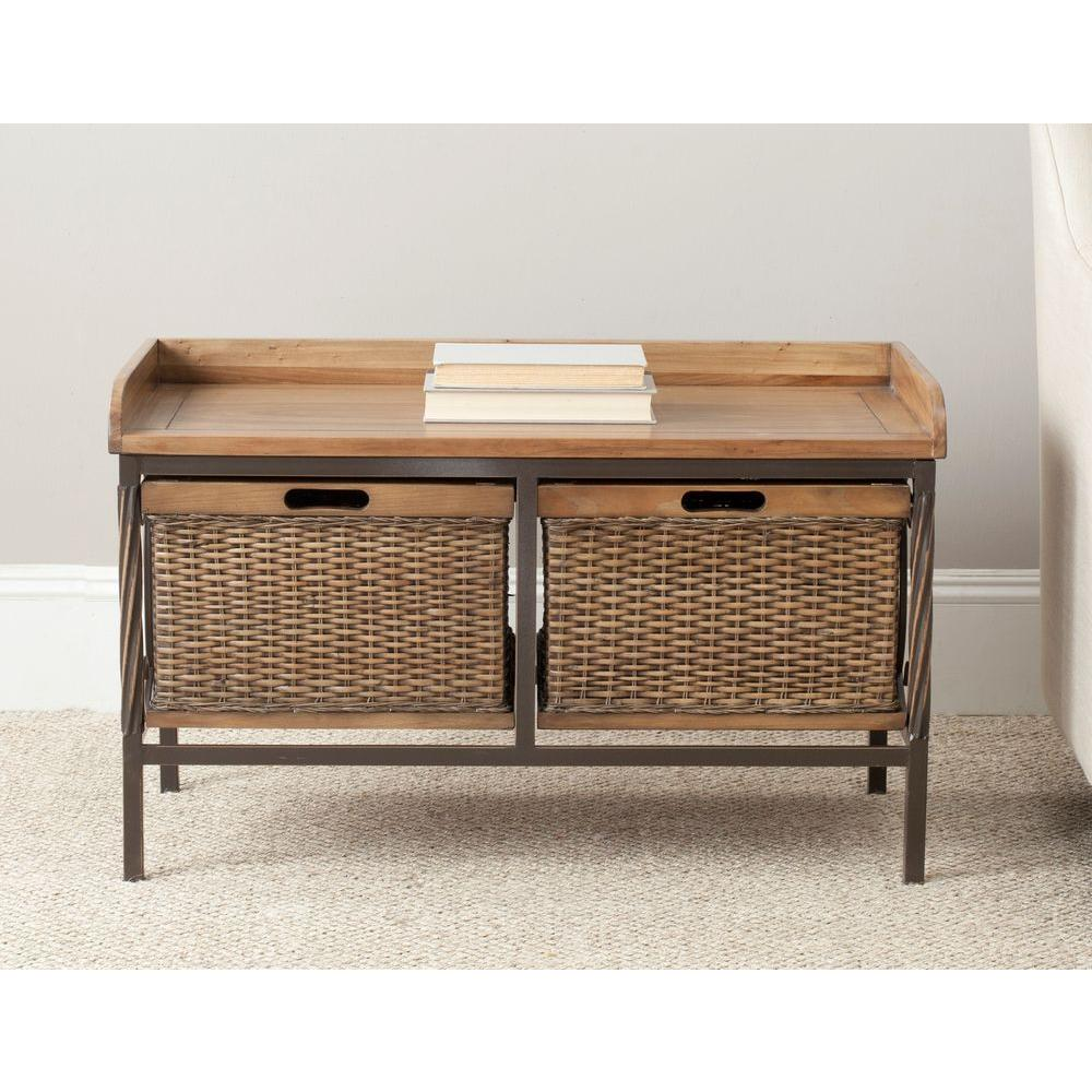 Safavieh Nah Medium Oak Storage Bench