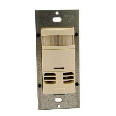Dual-Relay Multi-Technology Wall Switch Motion Sensor - Light Almond