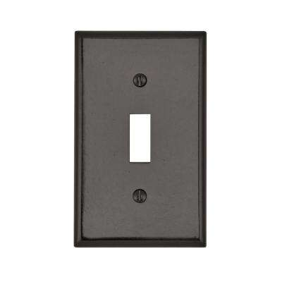 1-Gang 1-Toggle Standard Size Plastic Wall Plate, Brown
