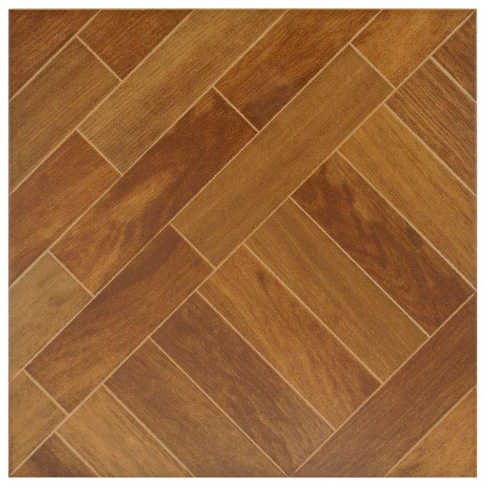 Merola Tile Techwood Iroko 13-1/2 in. x 13-1/2 in. Porcelain Floor and Wall Tile (13.9 sq.ft./case)-DISCONTINUED