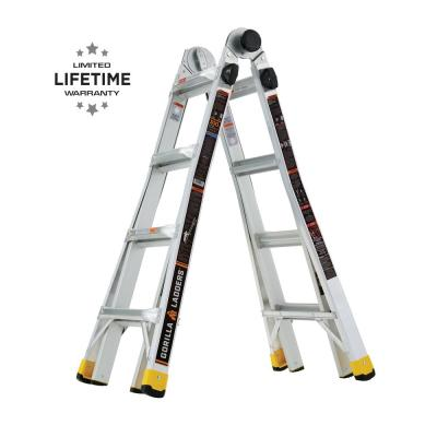 Gorilla Ladders 18 ft. Reach MPX Aluminum Multi-Position Ladder
