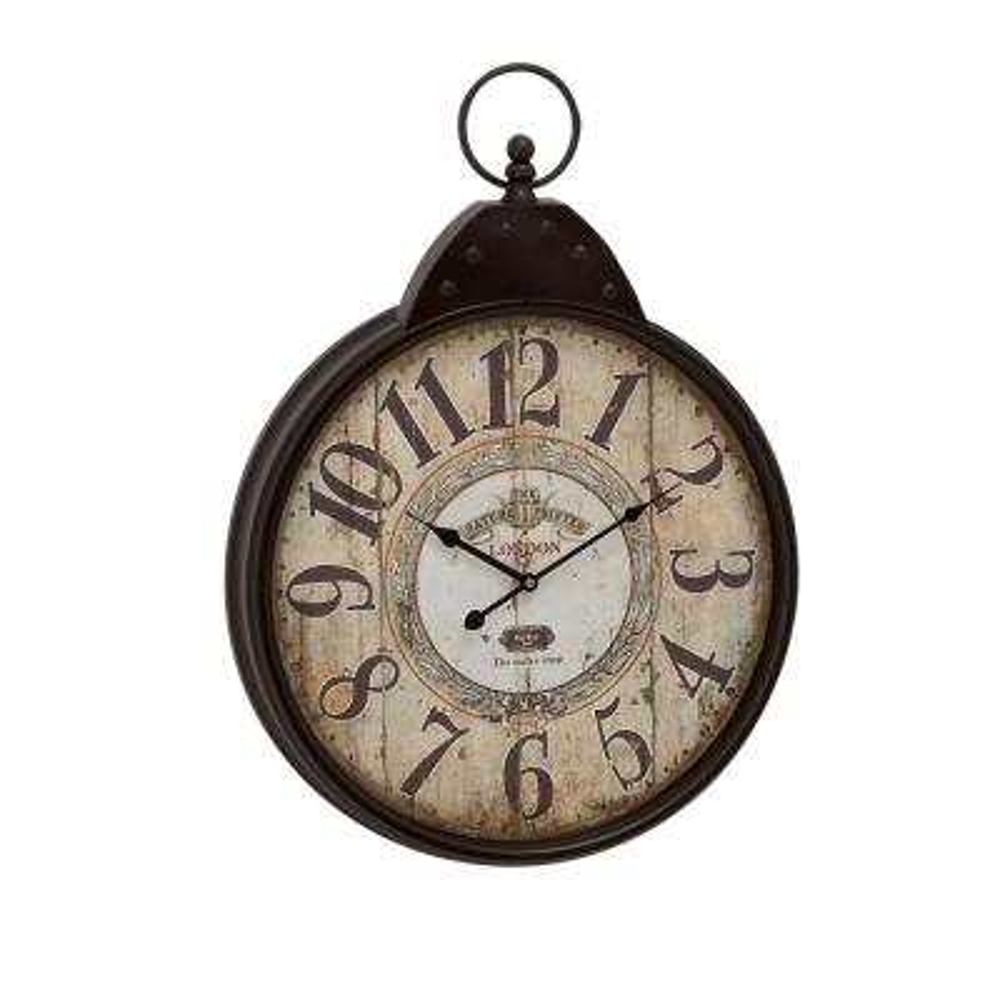 28 in. x 20 in. Metal Wall Clock