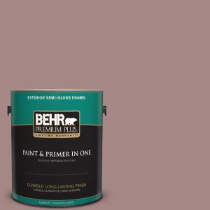 #120F 4 Blackberry Mocha Semi Gloss Enamel Exterior Paint. BEHR Premium Plus  ...