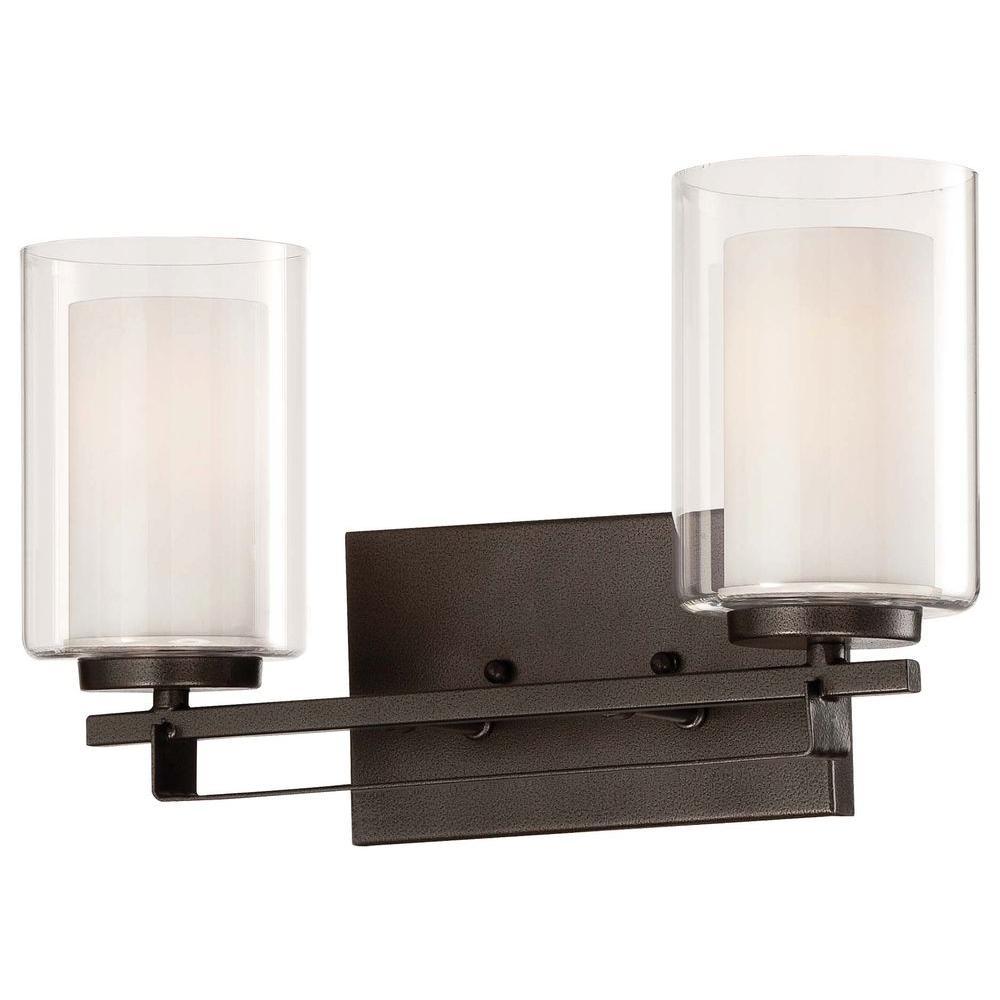 Parsons Studio 2-Light Smoked Iron Bath Light