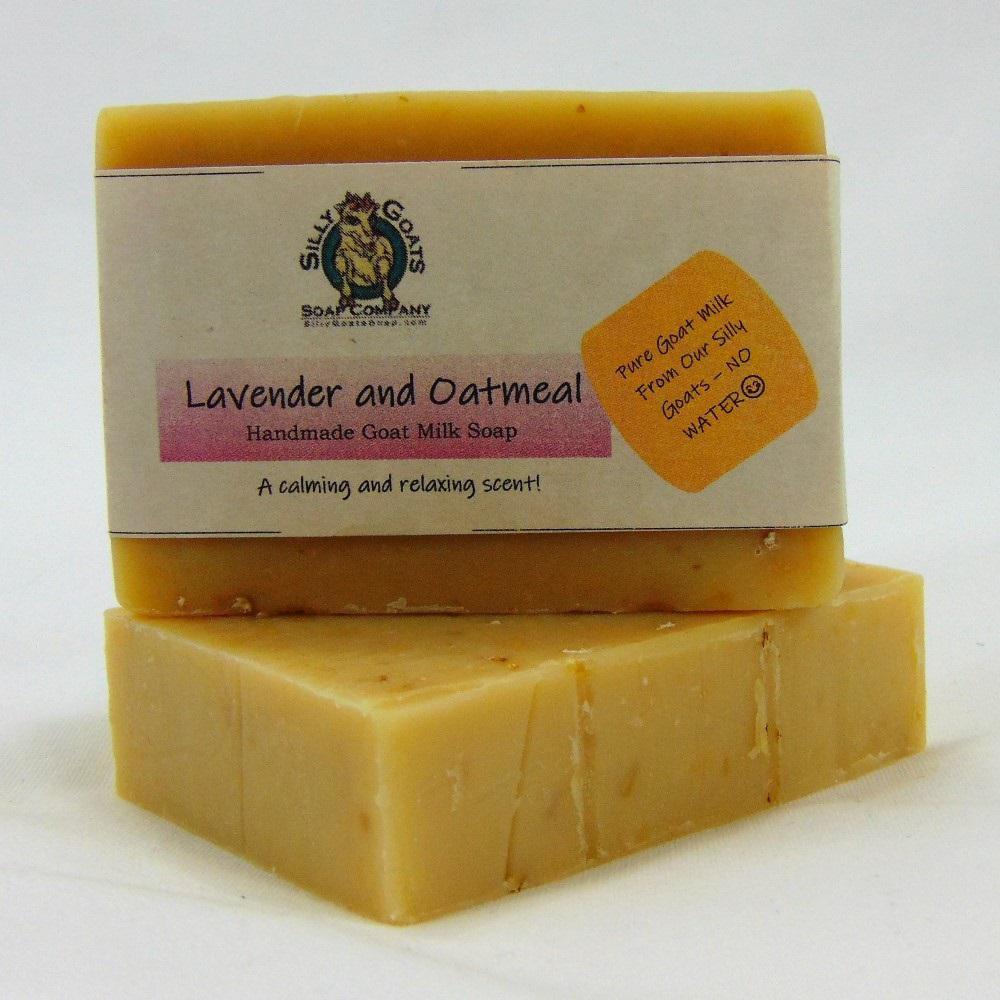 5 oz. Lavender & Oatmeal - Handmade Goat Milk Bar Soap