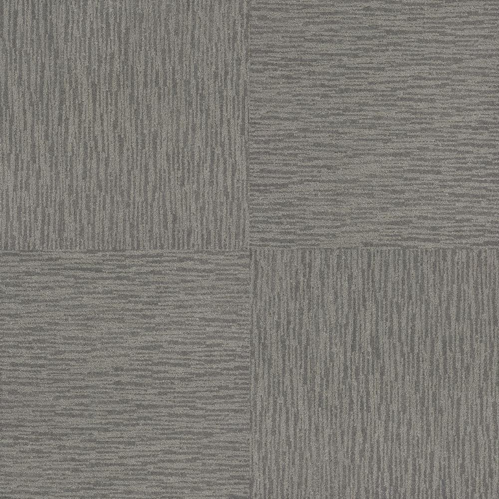 Dynamic Vision City Fog Patterned 9 in. x 36 in. Carpet Tile (12 Tiles/Case)