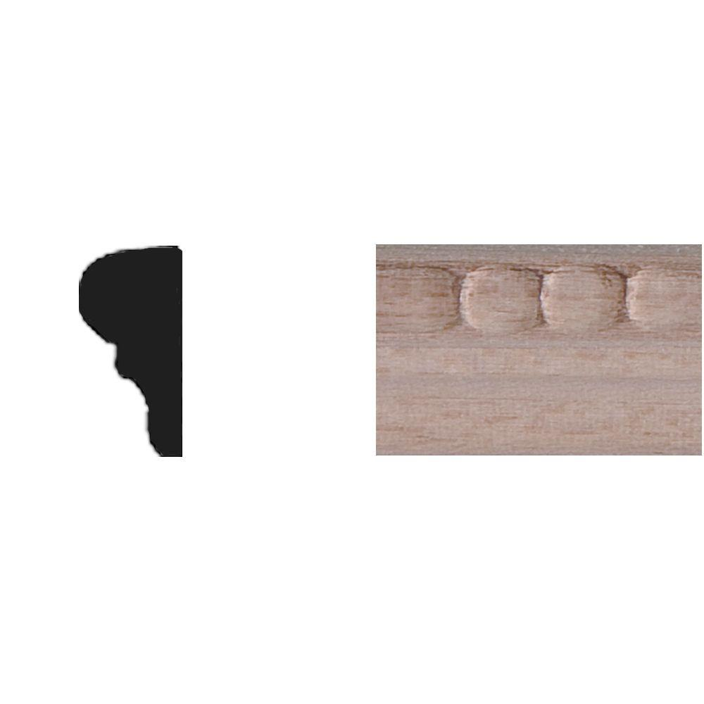 House of Fara 5/16 in. x 11/16 in. x 4 ft. Basswood Tinytrim Panel Moulding
