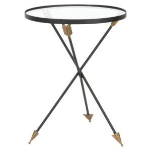 Arrow Gray Metal Accent Table by