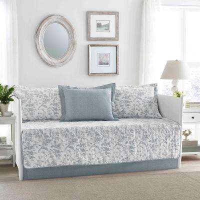 Amberley 5-Piece Blue Daybed Set
