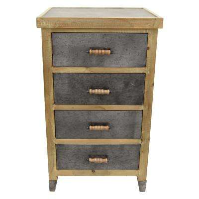 19 in. x 15.75 in. Brown Wood Cabinet