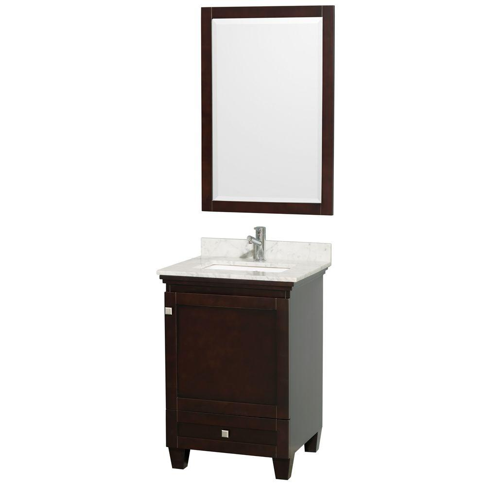 Acclaim 24 in. Vanity in Espresso with Marble Vanity Top in