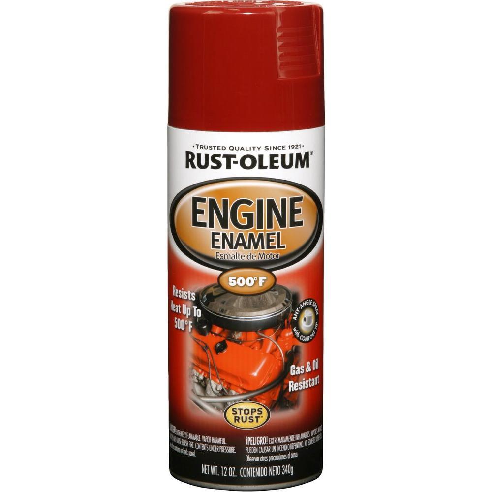 12 oz. 500 Degree Chrysler Industrial Red Engine Enamel Spray Paint (6-Pack)