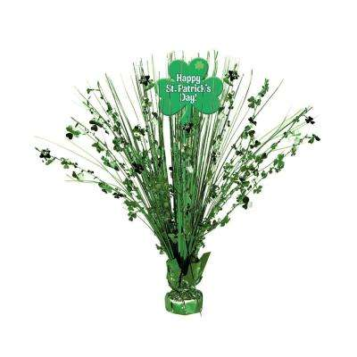 15 in. Happy St. Patrick's Day Foil Spray Centerpiece (2-Pack)