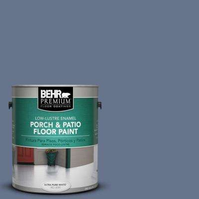 1 gal. #PPU16-17 Blue Aura Low-Lustre Porch and Patio Floor Paint