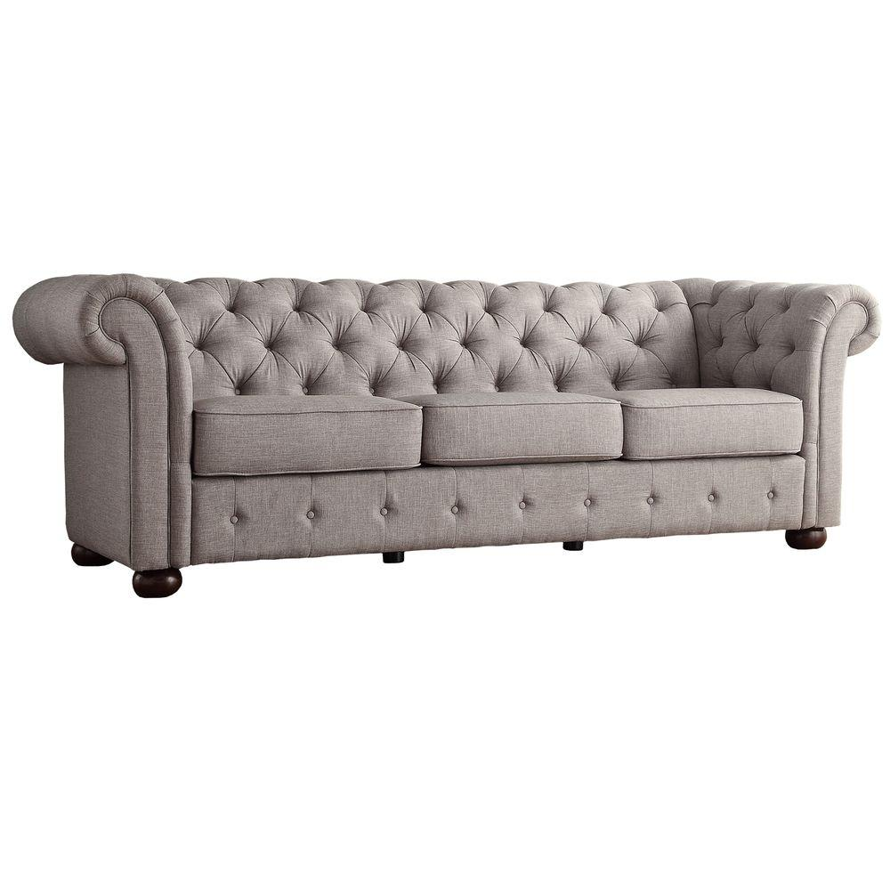 Radcliffe Grey Linen Sofa