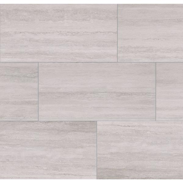 Florida Tile Home Collection Silver Sands 12 In X 24 In Porcelain Floor And Wall Tile 435 84 Sq Ft Pallet Chded0312x24p The Home Depot
