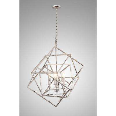 Candle-Style 4-Light Nickel Chandelier