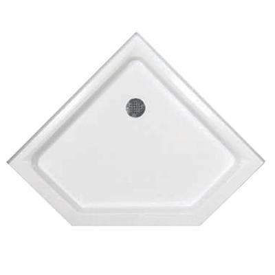 38 in. x 38 in. Triple Threshold Neo Shower Base in White