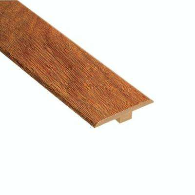 High Gloss Natural Mahogany 1/4 in. Thick x 1-7/16 in. Wide x 94 in. Length Laminate T-Molding