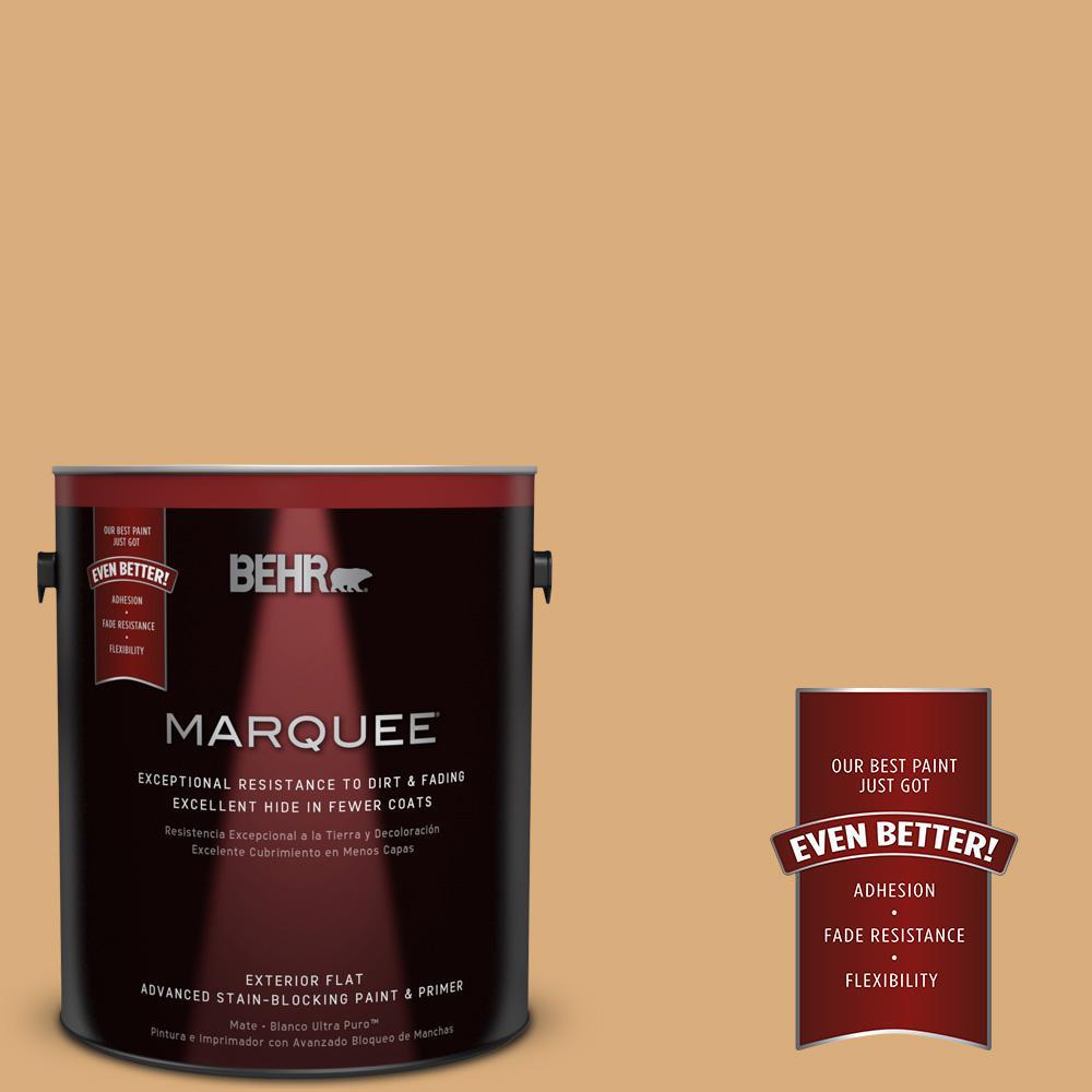 BEHR MARQUEE 1-gal. #PPU6-5 Cork Flat Exterior Paint