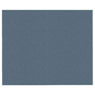 44 sq. ft. Quarry Blue Fabric Covered Top Kit Wall Panel