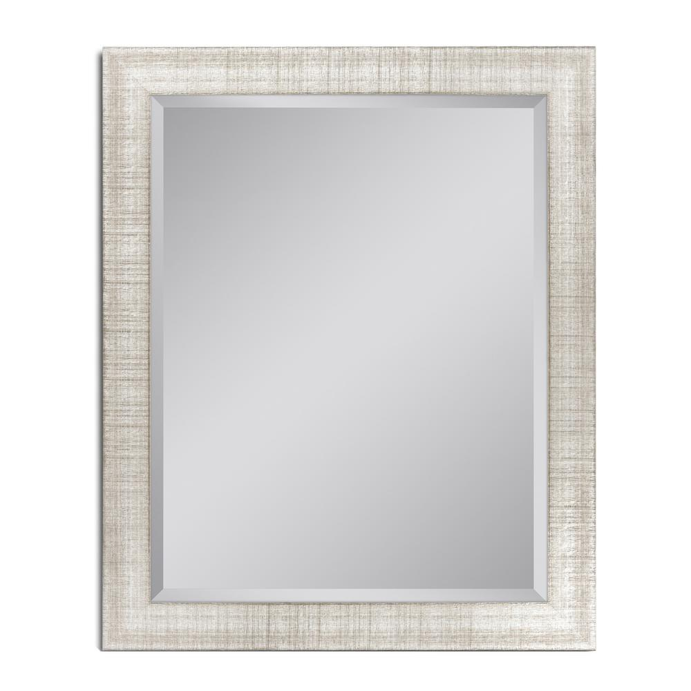 28 in. W x 34 in. H Textured Mesh Wall Mirror