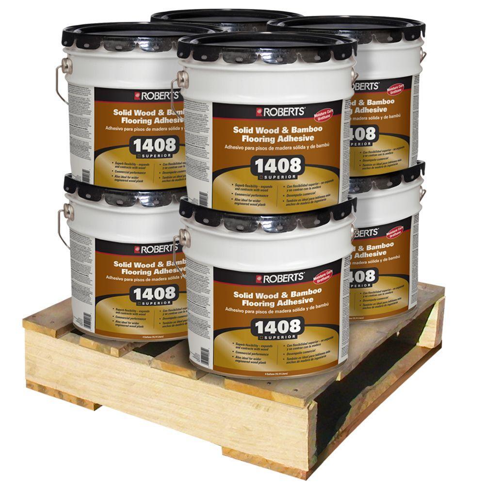 Roberts 4-gal. Urethane Wood Flooring Adhesive (8 / pallet)-DISCONTINUED