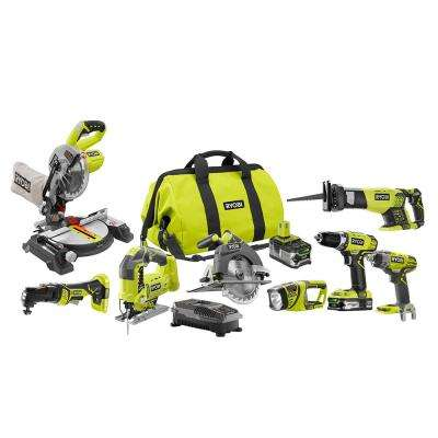 18-Volt ONE+ Lithium-Ion Cordless (8-Tool) Combo Kit with (1) 4.0Ah Battery and (1) 1.5Ah Battery, Charger and Bag