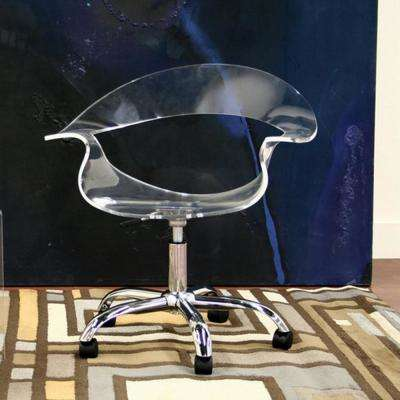 Elia Modern Clear Wood Finished Office Chair