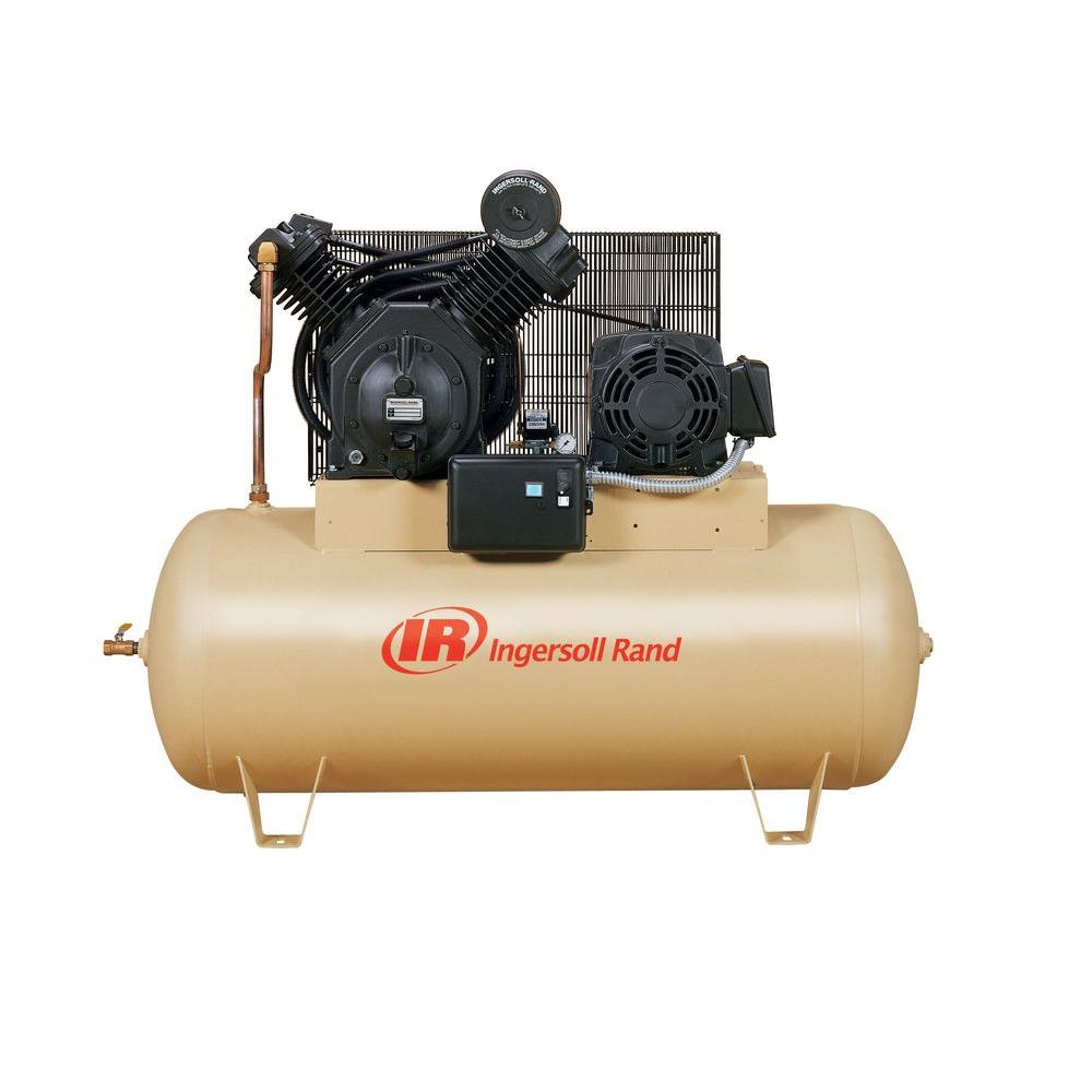 Ingersoll Rand Type 30 Reciprocating 120 Gal 10 Hp Electric 460 Volt 3 Phase