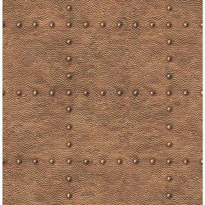 Otto Copper Hammered Metal Wallpaper Sample