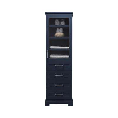 Lynn 20 in. W x 15 in. D x 68 in. H Tall Side Unit in Midnight Blue