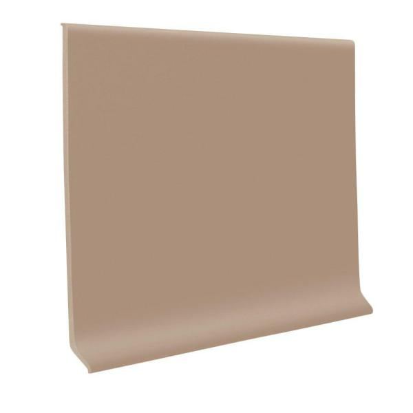 Sandstone 4 in. x 1/8 in. x 48 in. Vinyl Wall Cove Base (30-Pieces)