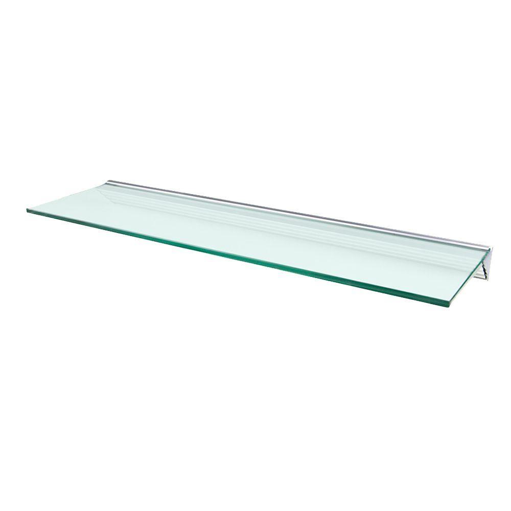 Wallscapes Glacier Opaque Glass Shelf with Silver Bracket...