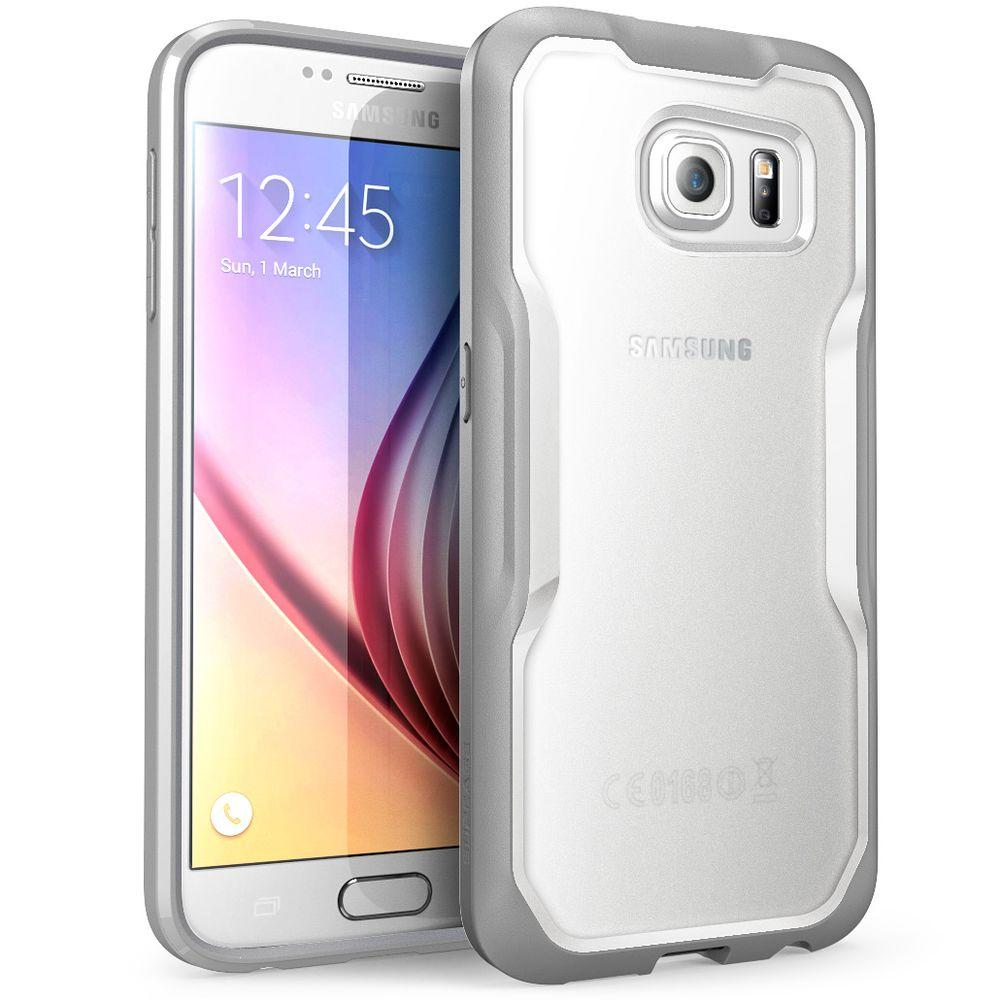 on sale c2a93 bca44 i-Blason SUPCASE Unicorn Beetle Hybrid Bumper Case for Samsung Galaxy S6,  Clear/Gray