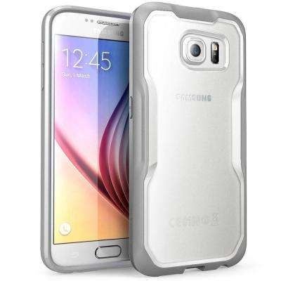 SUPCASE Unicorn Beetle Hybrid Bumper Case for Samsung Galaxy S6, Clear/Gray