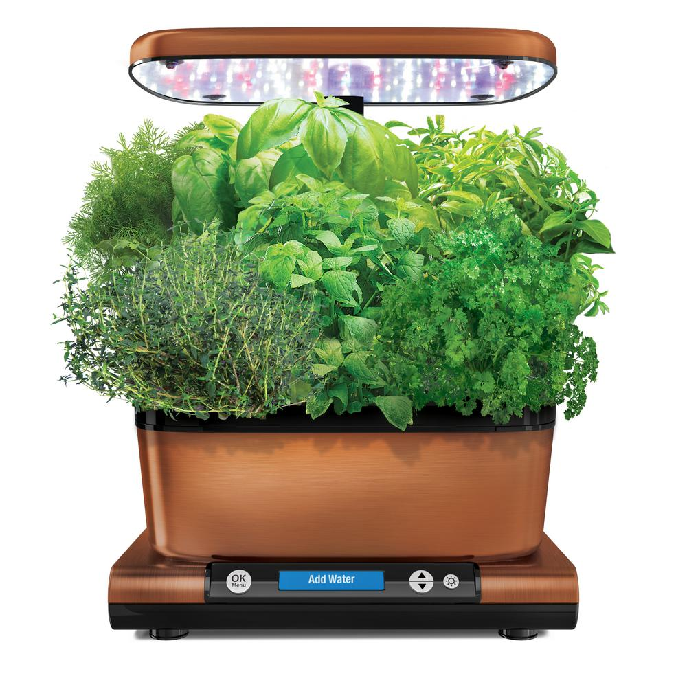 Miracle gro aerogarden harvest elite with gourmet herb for Aero garden com