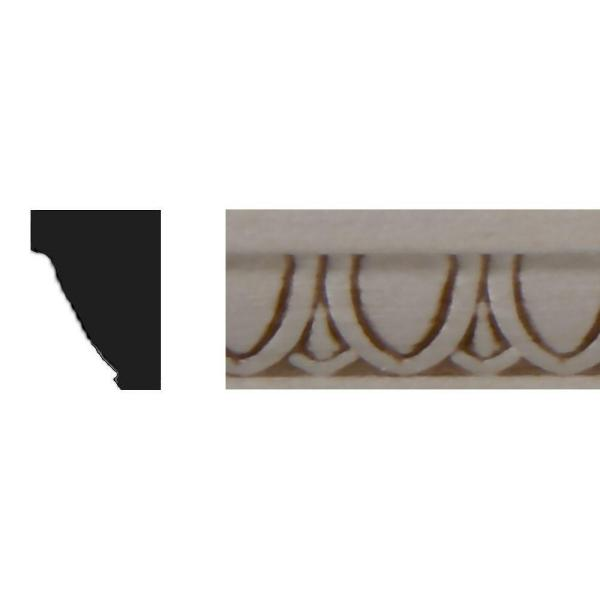 3/8 in. x 1/2 in. x 4 ft. Basswood Panel Moulding