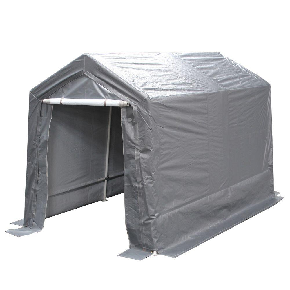 King Canopy 7 ft. W x 12 ft. D Steel Storage Garage-G0712 - The Home Depot  sc 1 st  The Home Depot & King Canopy 7 ft. W x 12 ft. D Steel Storage Garage-G0712 - The ...