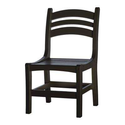 DuraWood Casual Patio Dining Chair in Black