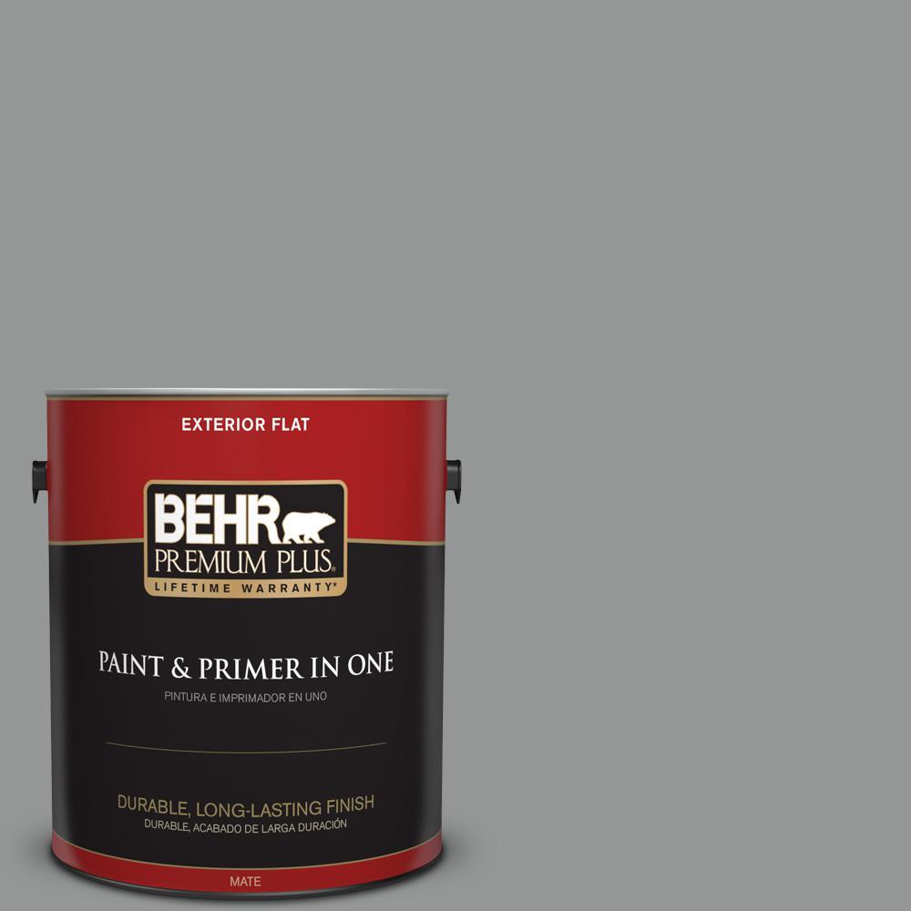 1 gal. #PPU24-19 Shark Fin Flat Exterior Paint