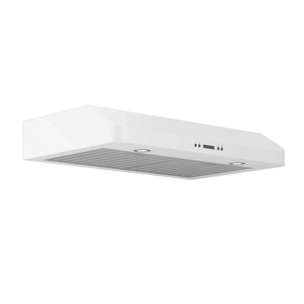 Ancona Slim Chef 30 in. Under-Cabinet Range Hood in White-AN-1265 ...