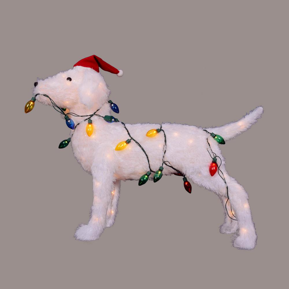 christmas 3 d standing decorative dog lighted outdoor decoration
