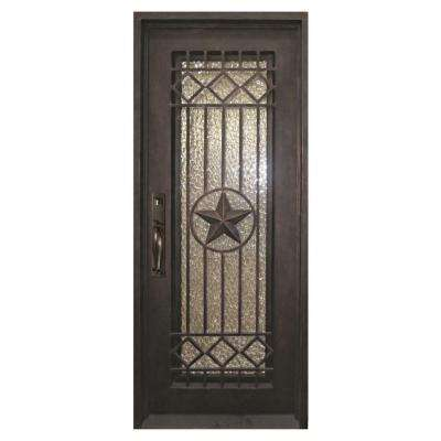 40 in x 98 in texas star classic full lite painted oil rubbed bronze - Single Exterior Doors