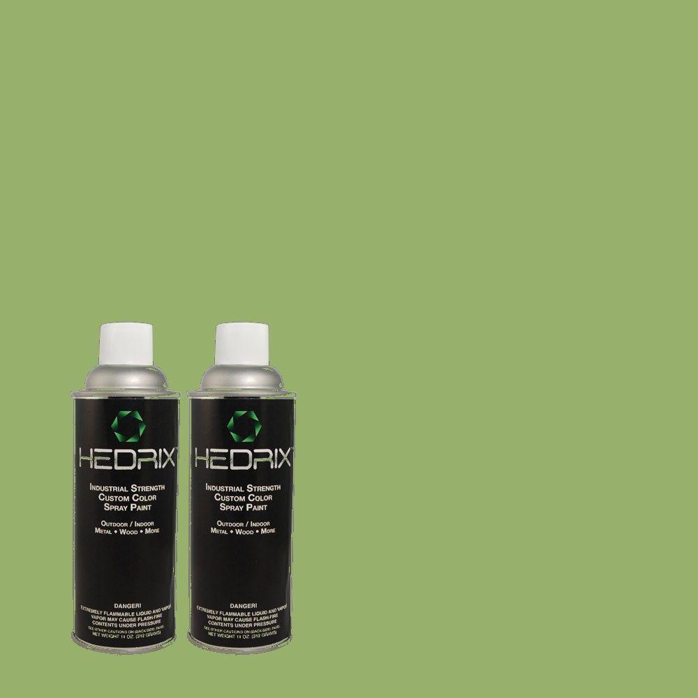 Hedrix 11 oz. Match of 440D-5 Pesto Low Lustre Custom Spray Paint (2-Pack)
