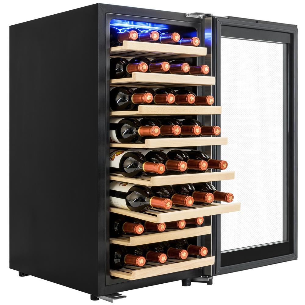 15.75 in. 38-Bottle Wine and 76-Can Compressor Beverage Cooler