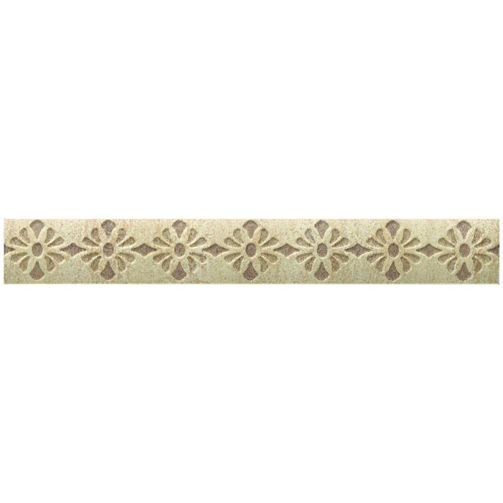 Daltile Fashion Accents Tapestry 1 in. x 9 in. Decorative Accent Wall Tile