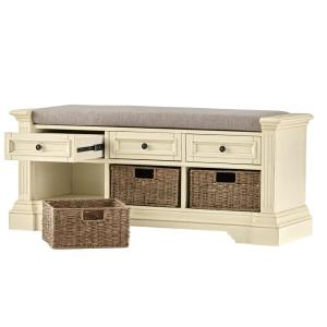 Home Decorators Collection Bufford Antique Ivory Storage Bench ...